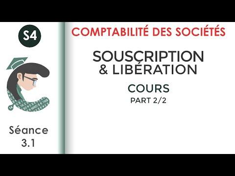Comptabilité des sociétés(darija); séance 3- part 2 : Souscription et libération des apports