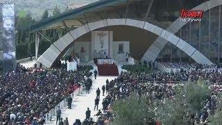 Msza Święta na placu przed Sanktuarium Świętego Ojca Pio w San Giovanni Rotondo