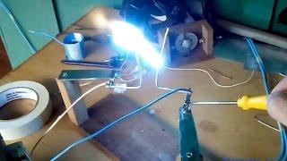 Alta tensão com transformador de micro-ondas