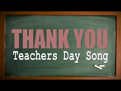 Teachers Day Song | Thank You | Karaoke Version