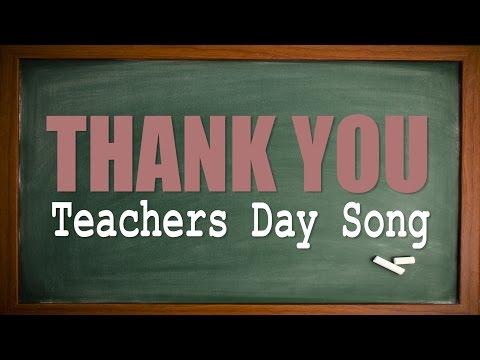 Teachers Day Song | Thank You | Karaoke Version