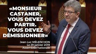 DE LA TRIBUNE DE L'ASSEMBLÉE : «CASTANER DÉMISSION !»
