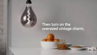 GE How to: Add Vintage Charm in Seconds with Oversized Vintage Style LEDs -- Kitchen