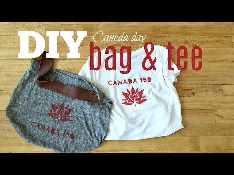 DIY Bag And T-Shirt | Canada 150