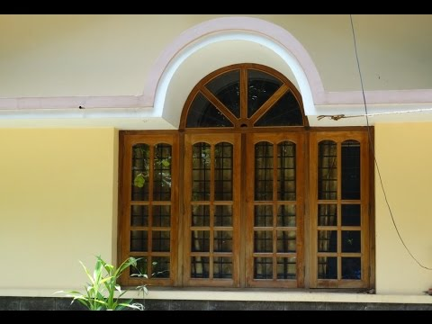 House Front window design Teak Wood