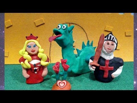 LA LEYENDA DE SANT JORDI en Español/ Cuento de Sant Jordi/ Cuentos infantiles/ plastilina