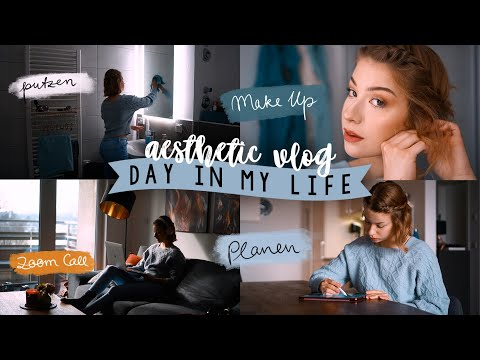 DAY IN MY LIFE - aesthetic vlog: Wochenplanung, Lebensmitteleinkauf, Sport, Pizza, Bullet Journal