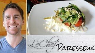 Zucchini Pasta Salad! Vegan & Gluten Free. Le Chef Paresseux Ep. 38