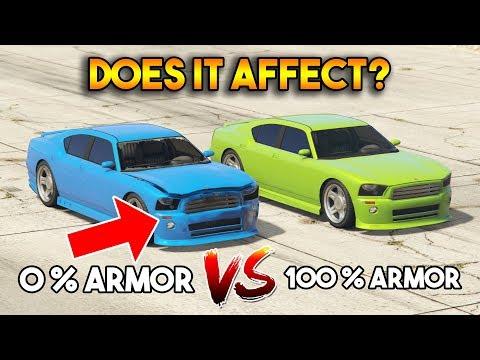 GTA 5 ONLINE : 0% ARMOR VS 100% (DOES ARMOR AFFECT?)