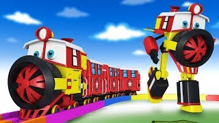 Toy Factory Transformer Cartoon Trains for Kids Choo Choo kereta api