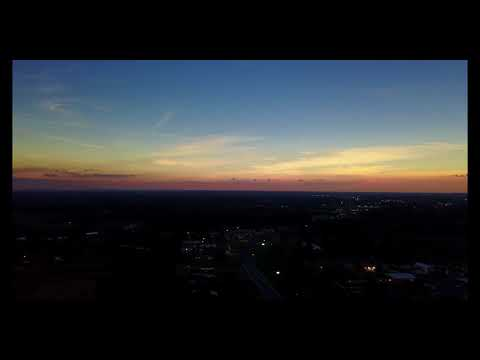 Solar Eclipse Drone Footage in Lafayette, TN - Facing West