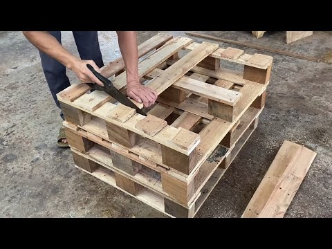 Amazing Design Idea Woodworking Project Cheap From Pallet Building A Storage Box From Old Pallet Youtube