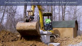 How to install an underground water tank Video