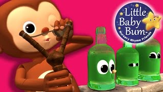 Ten Green Bottles | Nursery Rhymes | By LittleBabyBum