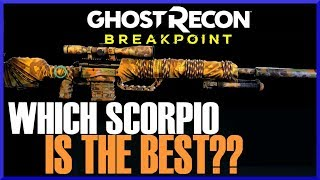 Ghost Recon Breakpoint SCORPIO SCOUT vs SCORPIO SNIPER BULLET DROP TEST