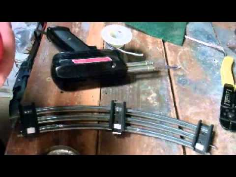 How to solder wires onto Lionel track