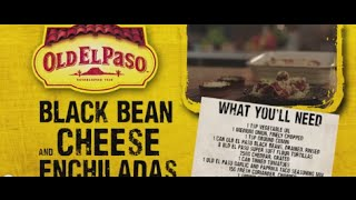 Black Bean And Cheese Enchiladas | Andy Bates | Old El Paso