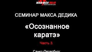Семинар Макса Дедика - Осознанное каратэ Часть 3