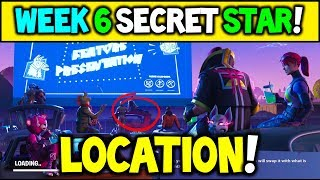 SECRET BATTLE STAR WEEK 6 SAISON 5 EMPLACEMENT! - Fortnite Battle Royale (Road Trip Challenges) - EASY!