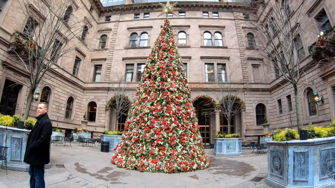 Nyc During Christmas.ᴷ Walking Nyc Metlife Building To Lotte New York Palace During Christmas Eve