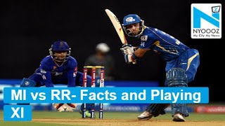 IPL 2018: MI vs RR - Facts and Playing XI