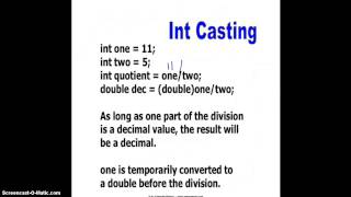 Casting int and double
