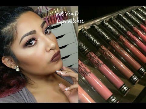 Kat von d everlasting liquid lipstick swatches review youtube