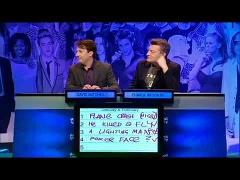 David Mitchell refuses to dance - Big fat quiz of the year 2009