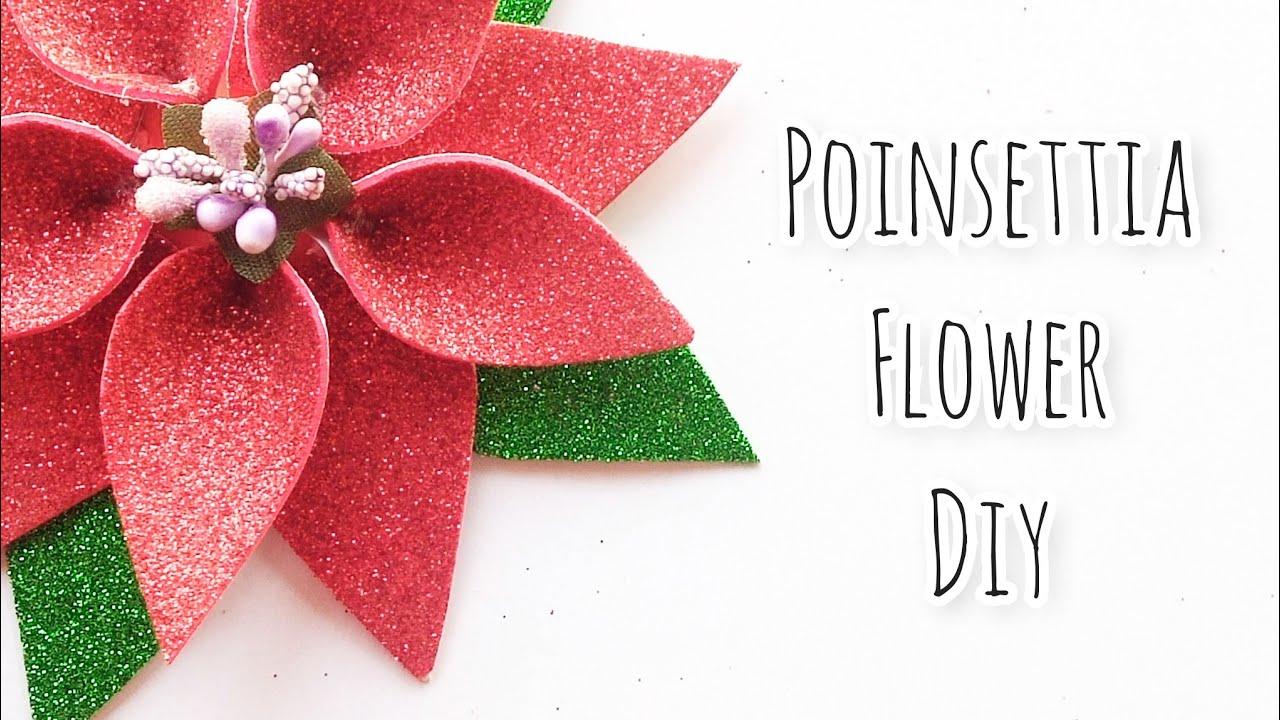 Fomic sheets paper Flower || Christmas Flower Poinsettia with fomic sheet #papercraft #paperflower