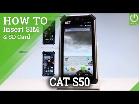 How to Insert Micro SIM and SD Card on CATERPILLAR S50