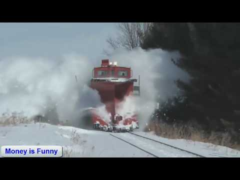 EPIC CATCH!!!AMAZING Powerful Trains Snow Plow Compilation 2017... Dashing Thru The Snow