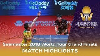 Tomokazu Harimoto vs Hugo Calderano | 2018 ITTF World Tour Grand Finals Highlights (1/2)