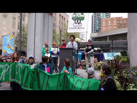 People's Climate March Seattle 4/29 - Plant for the Planet 1