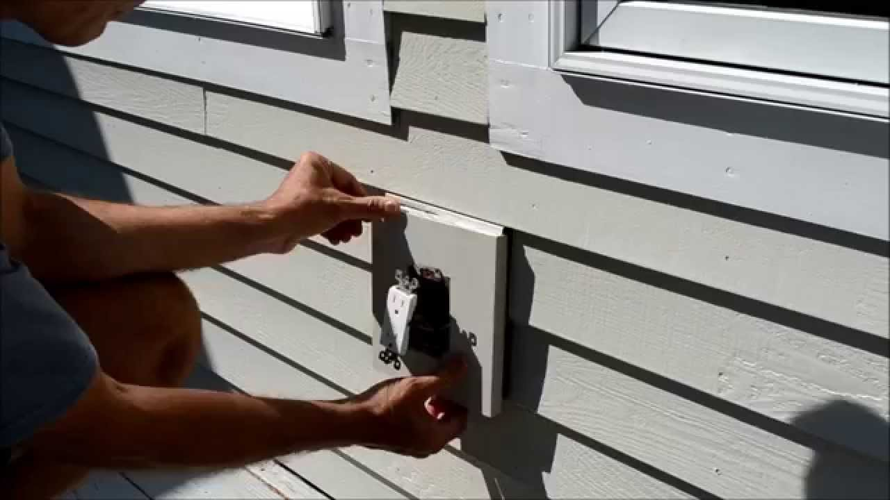 how to replace electrical outlet mounting block video. Black Bedroom Furniture Sets. Home Design Ideas
