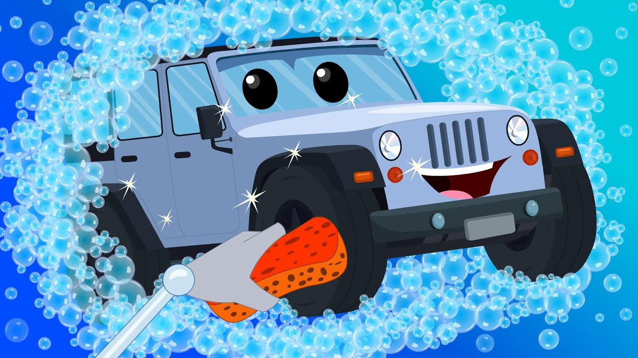 Jeep Car Wash | Car Wash | Kids Videos | Learn Vehicles