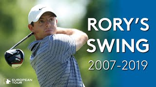 The evolution of Rory McIlroy's swing (2007-2019)