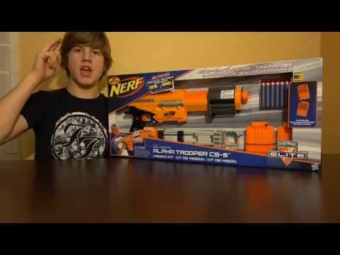 Nerf N-Strike Elite XD Alpha Trooper CS-6 Unboxing And Review