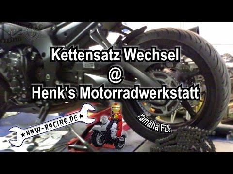 Kettenwechsel Yamaha FZ8 - Henk's Motorradwerstatt