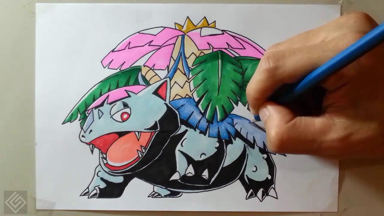Mega Venusaur - Pokemon Mega Evolution #1 | Labyrinth Draw ...
