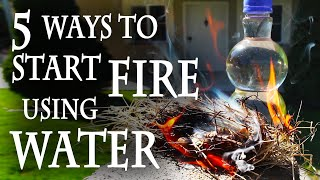 Repeat youtube video 5 Ways to Start a Fire, Using Water