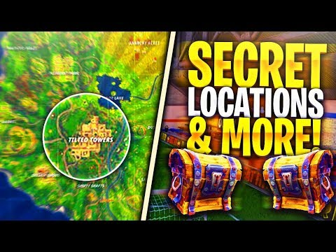 *ALL NEW MAP* LOCATIONS GAMEPLAY in Fortnite: Battle Royale! (Secret Spots & Chest Locations)