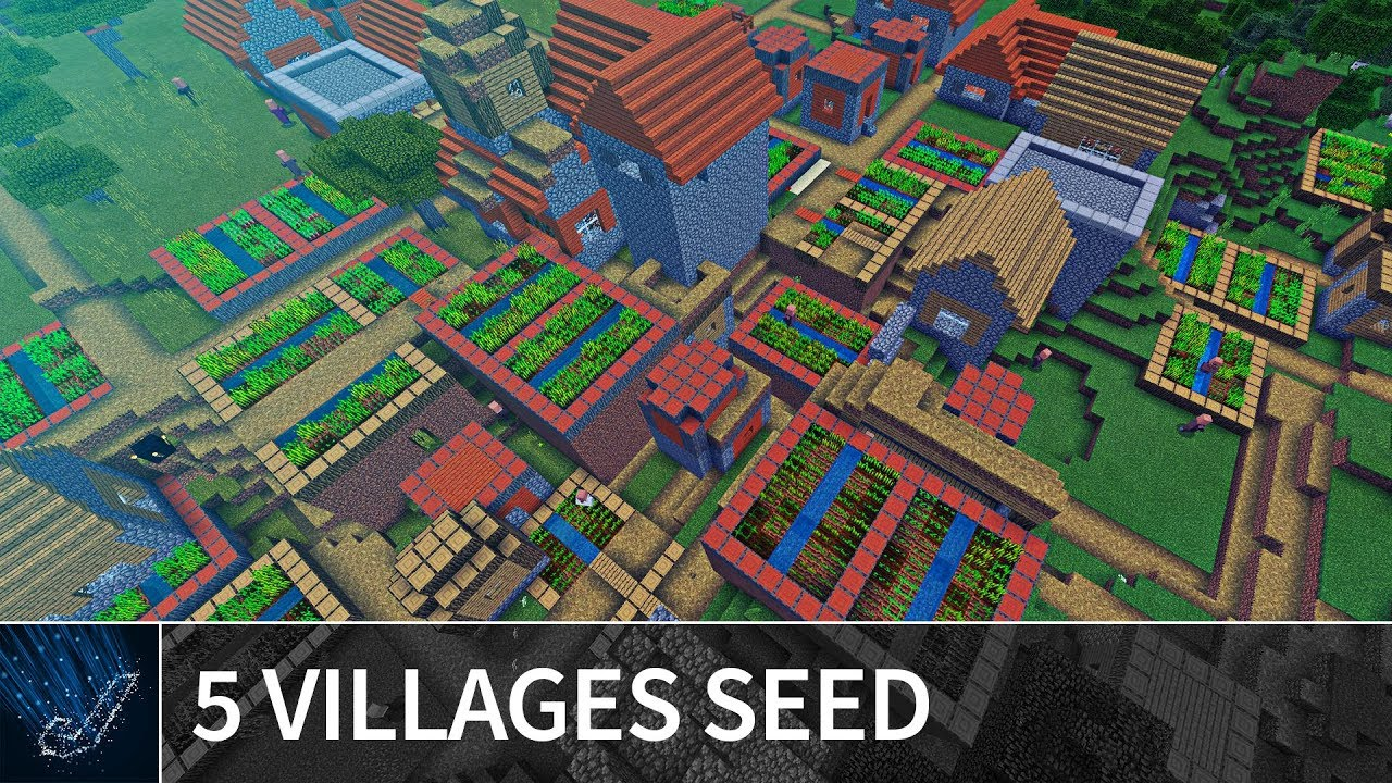Minecraft 1222.1222 Seeds: RARE 1222 VILLAGES COMBINED SEED - Best Minecraft PE /  MCPE Seeds for 1222.1222 / 1222.12