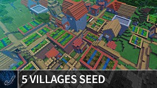 Minecraft 1.7 Seeds: RARE 5 VILLAGES COMBINED SEED - Best Minecraft PE / MCPE Seeds for 1.7 / 1.6