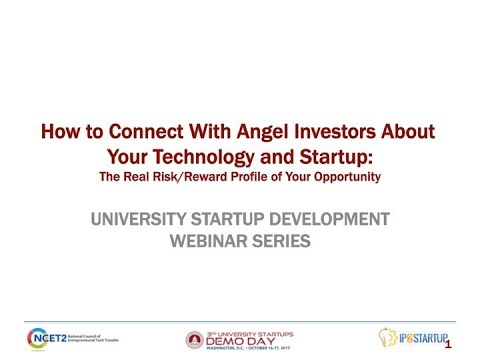 How to Connect With Angel Investors About Your Technology and Startup