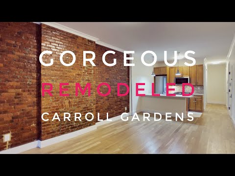 Gorgeous Apartment in Prime Carroll Gardens with Private Backyard! Video Tour NYC Brooklyn NY