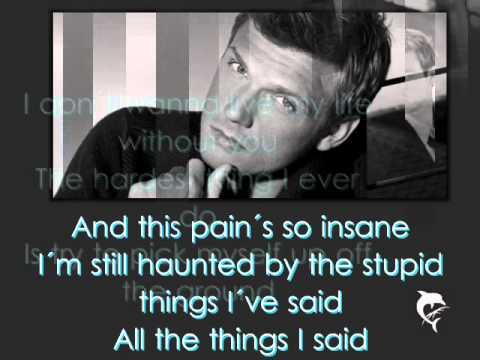 Nick Carter - Falling Down (Lyrics on Screen)