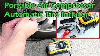 Digital 12v Tyre Pump Halfords Auto Stop LED Light Air Compressor New Unboxed
