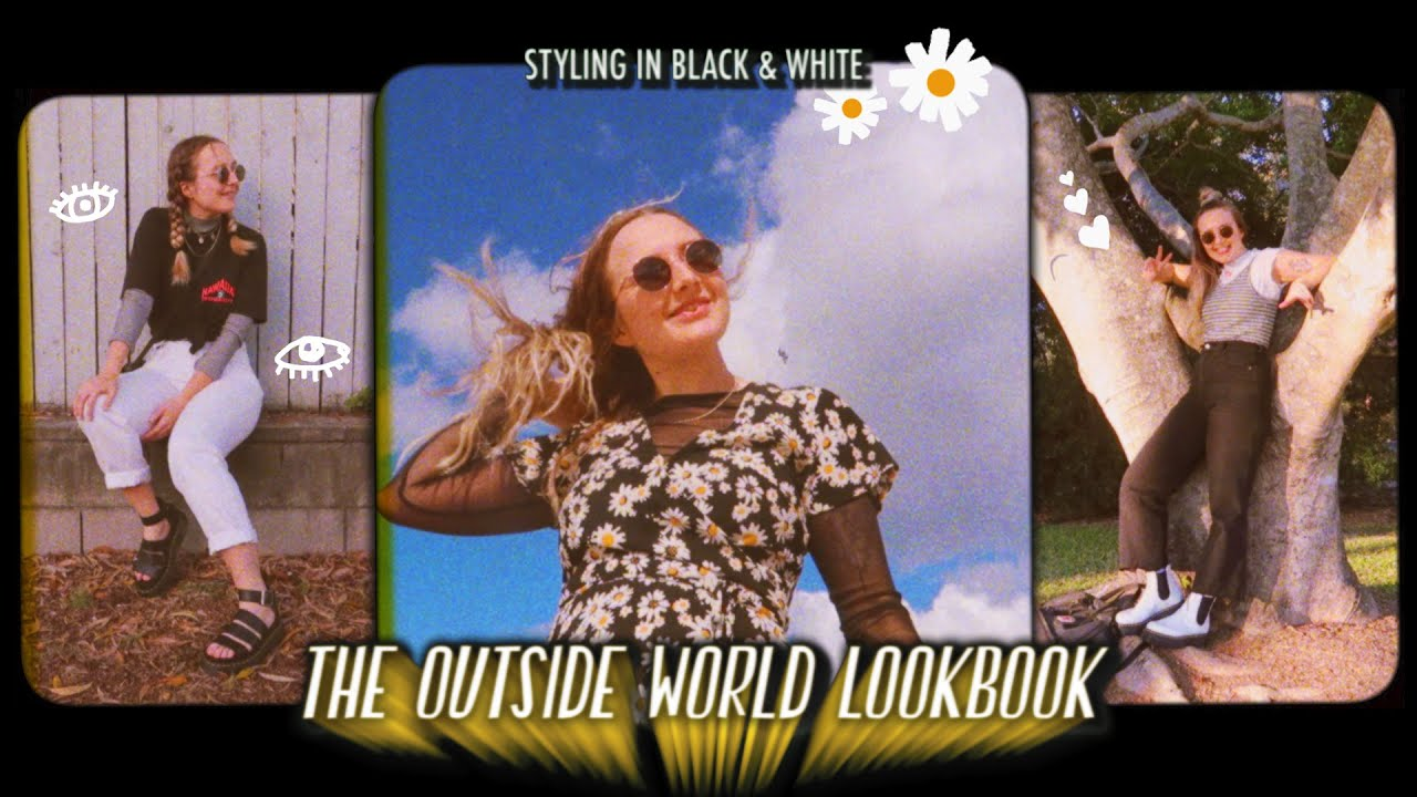 90's Inspired Outfit Ideas | Black & White Lookbook