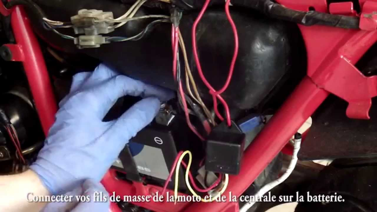 medium resolution of installer une centrale clignotante led de a z sur une moto youtube