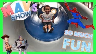 CUTE TODDLER SHOW OUTDOOR PLAY   VETERANS PARK NAPLES REVIEW